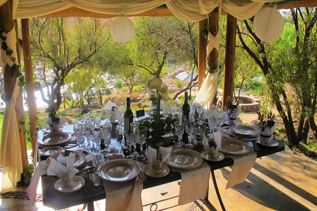 Wedding Venue Pretoria Table On Pool Deck