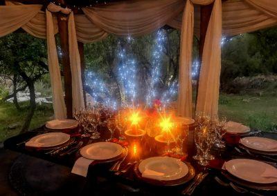 Lethabo Estate Evening Wedding Ceremony Full Table