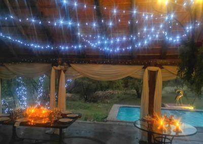 Lethabo Estate Evening Wedding Ceremony Tables