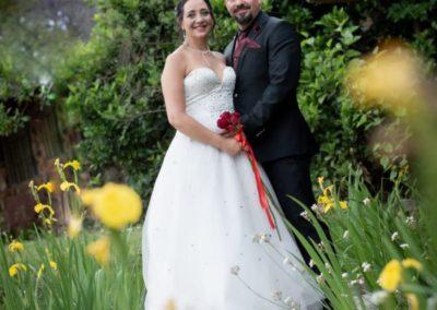 Wedding Lethabo Estate Between Flowers